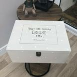 Personalised VERY LARGE Special 50th Birthday Keepsake Memory Box Gift Present - 333395833783